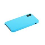 Силиконовый чехол - накладка для iPhone X Hoco Silicone Case, цвет голубой