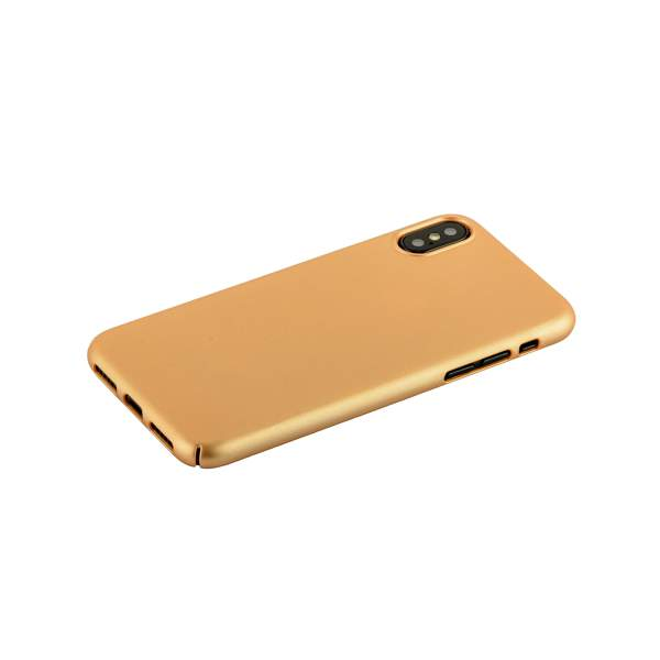 Чехол-накладка пластик Soft touch Deppa Air Case D-83322 для iPhone X (5.8) 1 мм Золотистый