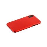 Чехол-накладка пластик Soft touch Deppa Air Case D-83324 для iPhone X (5.8) 1мм Красный