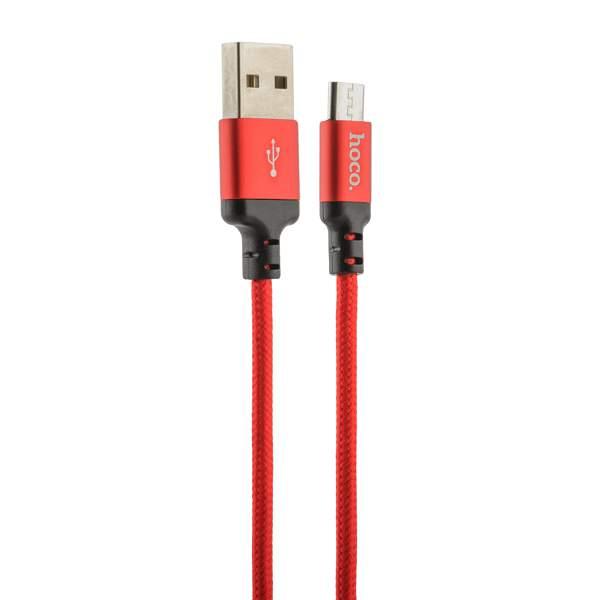 MicroUSB кабель Hoco X14 Times speed (2.0 м), цвет красный