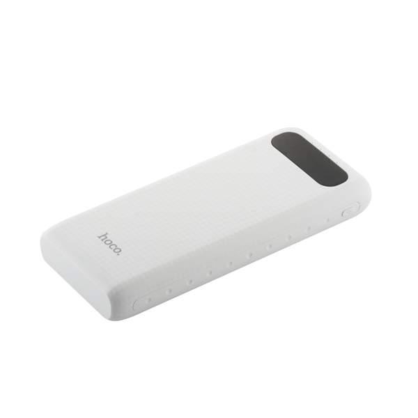 Внешний аккумулятор Hoco B20A Mige Power Bank (USB: 5V - 2.1A) - 20000 mAh White, цвет белый