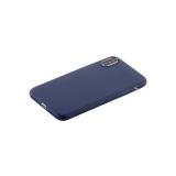 Супертонкий силиконовый чехол накладка для iPhone XS COTEetCI Grind arenaceous TPU Case (CS8007 - BL), цвет синий