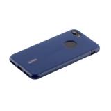 Чехол-накладка силиконовый Cherry матовый 0.4mm & пленка для iPhone SE (2020г.) Синий