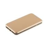 Кожаный чехол - книжка для iPhone 8 Fashion Case Slim - Fit Gold, цвет золотистый