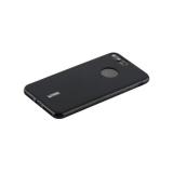 Чехол-накладка силиконовый Cherry матовый 0.4mm & пленка для iPhone 8 Plus (5.5) Черный