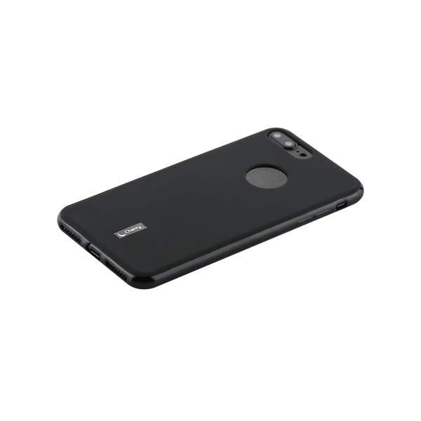 Чехол-накладка силиконовый Cherry матовый 0.4mm & пленка для iPhone 7 Plus (5.5) Черный