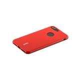 Силиконовый чехол накладка для iPhone 7 Plus Cherry 0.4 мм & пленка, цвет красный