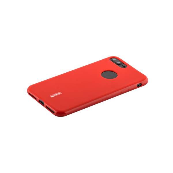 Чехол-накладка силиконовый Cherry матовый 0.4mm & пленка для iPhone 8 Plus (5.5) Красный