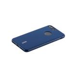 Чехол-накладка силиконовый Cherry матовый 0.4mm & пленка для iPhone 8 Plus (5.5) Синий