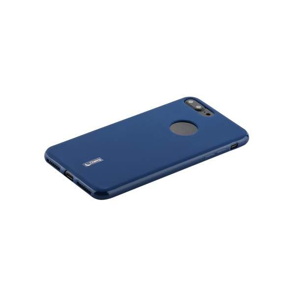 Чехол-накладка силиконовый Cherry матовый 0.4mm & пленка для iPhone 7 Plus (5.5) Синий