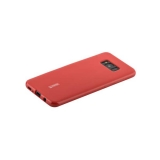 Чехол - накладка силиконовый Cherry матовый 0.4mm & пленка для Samsung Galaxy Note 8 (N950) Красный