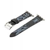 Кожаный ремешок для Apple Watch (38 mm) COTEetCI W13 Fashion LEATHER (WH5218 - BK - 38), цвет черно - белый