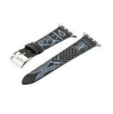 Кожаный ремешок для Apple Watch (40 mm) COTEetCI W13 Fashion LEATHER (WH5218 - BK - 38), цвет черно - белый