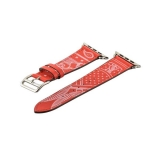 Ремешок кожаный COTEetCI W13 Fashion LEATHER (WH5219-RD-42) для Apple Watch 42 мм Красно-белый