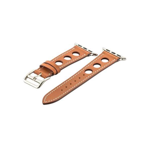 Ремешок кожаный COTEetCI W15 Fashion LEATHER с отверствиями (WH5220-KR-38) для Apple Watch 38 мм Коричневый