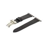 Кожаный ремешок для Apple Watch (38 mm) COTEetCI W16 Fashion LEATHER застёжка «бабочка» (WH5222 - BK - 38), цвет черный
