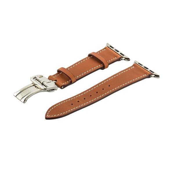 Ремешок кожаный COTEetCI W16 Fashion LEATHER застёжка «бабочка» (WH5223-KR-42) для Apple Watch 44 мм Коричневый