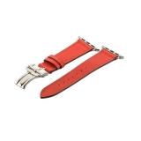 Кожаный ремешок для Apple Watch (44 mm) COTEetCI W16 Fashion LEATHER застёжка «бабочка» (WH5223 - RD - 42), цвет красный