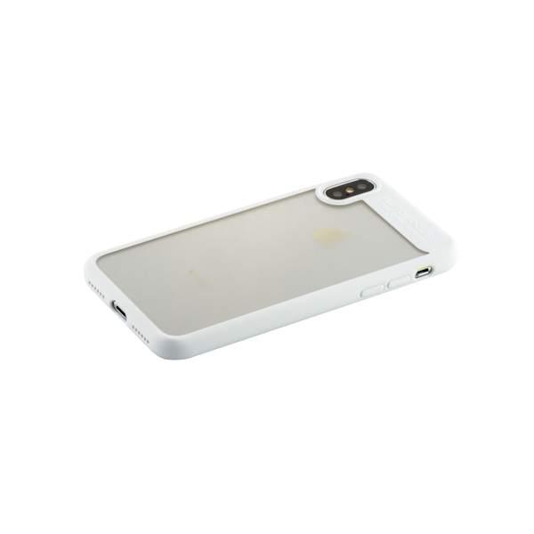 Накладка Baseus ARAPIPHX-SB02 пластиковая Suthin Case для iPhone X (5.8) Прозрачная с силиконым белым бортом