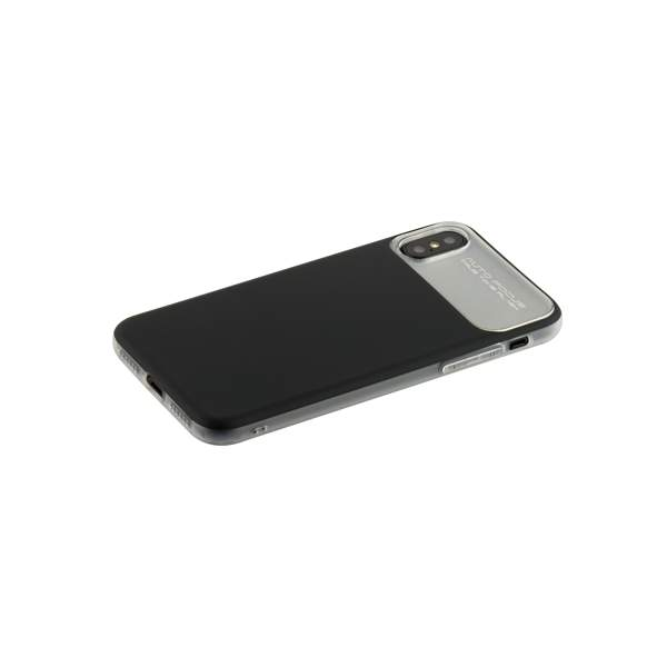 Накладка Baseus WIAPIPHX-QF01 силиконовая Slim Lotus Case для iPhone X (5.8) Матовая с пластиковой черной вставкой