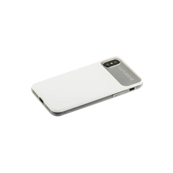 Накладка Baseus WIAPIPHX-QF02 силиконовая Slim Lotus Case для iPhone X (5.8) Матовая с пластиковой белой вставкой