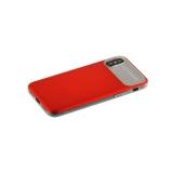 Накладка Baseus WIAPIPHX-QF09 силиконовая Slim Lotus Case для iPhone X (5.8) Матовая с пластиковой красной вставкой