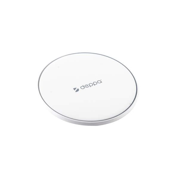Беспроводное зарядное устройство Deppa (D - 24001) Qi Fast Charger 10Вт (5V 1A, 9V 1.1A), цвет белый