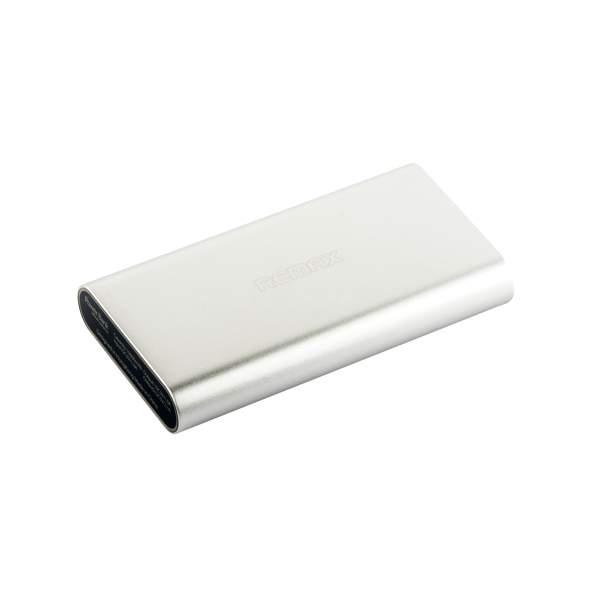 Внешний аккумулятор Remax Vanguard power bank (2 USB: 5V - 2.1A/1.0A) - 10000 mAh Silver, цвет серебристый