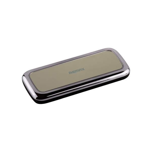 Внешний аккумулятор Remax RPP 35 Mirror power bank (USB: 5V - 1.0A) - 5500 mAh Black, цвет черный