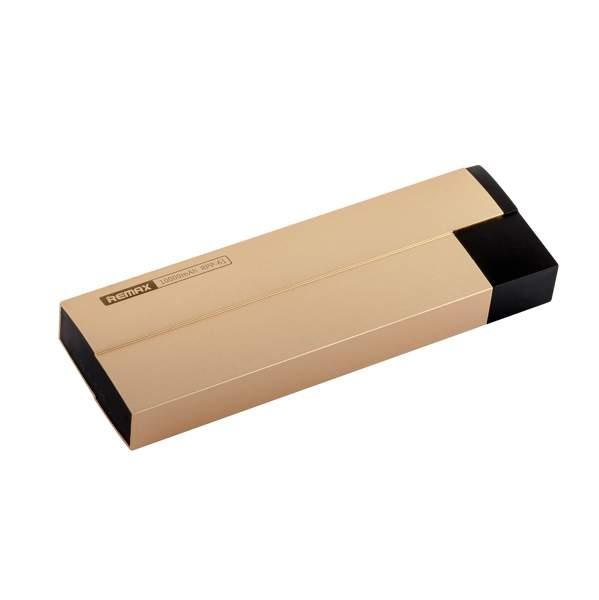 Внешний аккумулятор Remax RPP 61 Kerolla power bank (2 USB: 5V - 2.1A) - 10000 mAh Gold, цвет золотистый