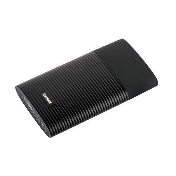 Внешний аккумулятор Remax RPP 27 Perfume power bank (2 USB: 5V - 2.1A) - 10000 mAh Black, цвет черный