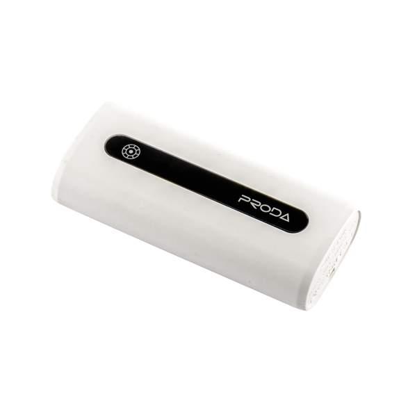 Внешний аккумулятор Remax PPL 15 Proda E5 power bank (USB: 5V - 1.0A) - 5000 mAh White, цвет белый