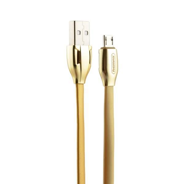 MicroUSB кабель Remax LASER (RC - 035m) плоский (1.0 м), цвет золотистый