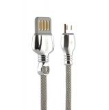 MicroUSB кабель Remax King Data Cable (RC - 063m) fast charging 2.1A круглый (1.0 м), цвет серебристый