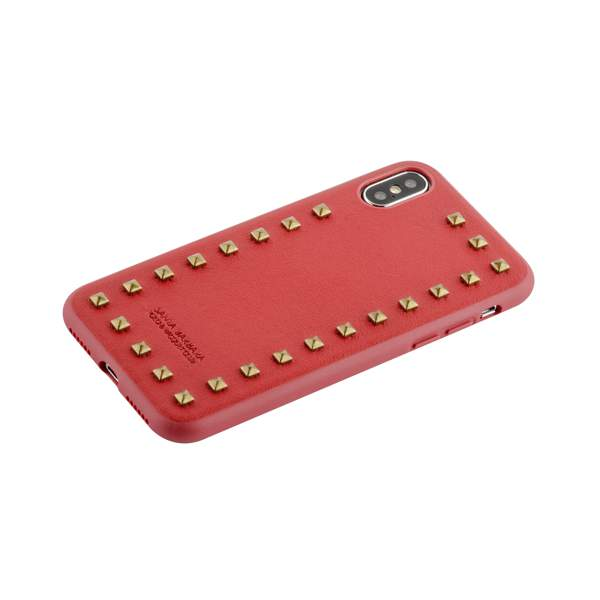 Накладка кожаная Santa Barbara Polo & Racquet Club Debonair Series для iPhone XS (5.8) Красная