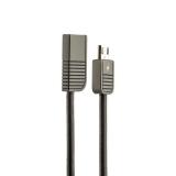 MicroUSB кабель Remax Linyo Series Cable (RC - 088m) 2.1A круглый (1.0 м), цвет черный