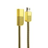MicroUSB кабель Remax Linyo Series Cable (RC - 088m) 2.1A круглый (1.0 м), цвет золотистый