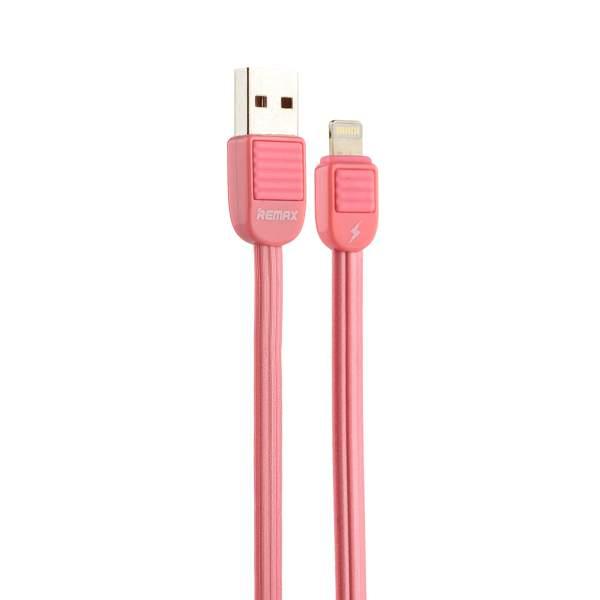 USB дата - кабель Remaxff (RC - 045i) LIGHTNING 2.0A плоский (1.0 м) Розовый