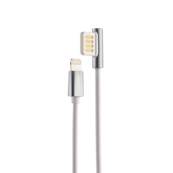 USB дата - кабель Remax Emperor Series Cable (RC - 054i) LIGHTNING 2.1A круглый (1.0 м) Белый