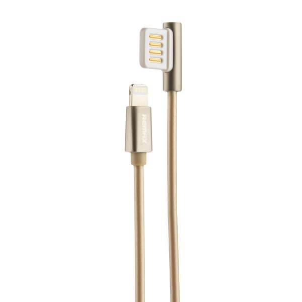 USB дата - кабель Remax Emperor Series Cable (RC - 054i) LIGHTNING 2.1A круглый (1.0 м) Золотистый