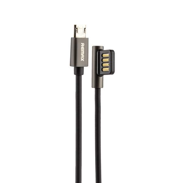 USB дата - кабель Remax Emperor Series Cable (RC - 054m) MicroUSB 2.1A круглый (1.0 м) Черный
