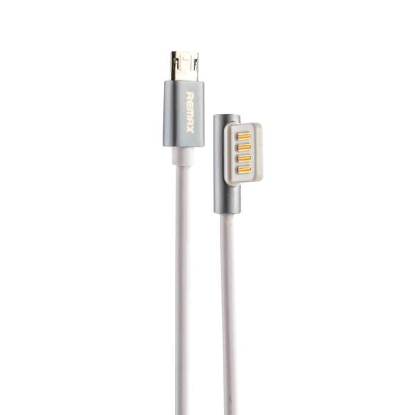 USB дата - кабель Remax Emperor Series Cable (RC - 054m) MicroUSB 2.1A круглый (1.0 м) Белый