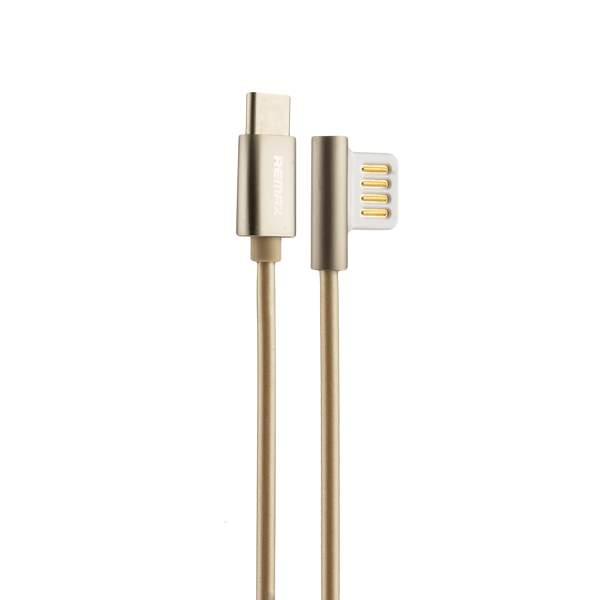 USB дата - кабель Remax Emperor Series Cable (RC - 054a) Type-C 2.1A круглый (1.0 м) Золотистый
