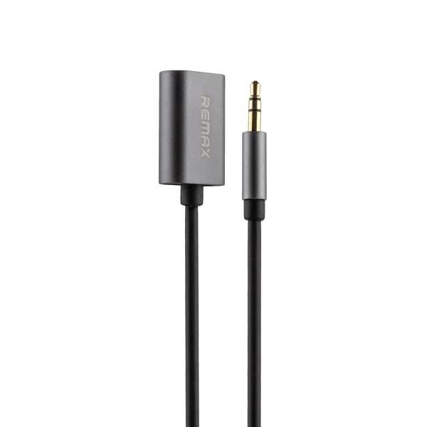 Аудио - переходник Remax RL - S20 AUX на два входа 3,5 мм (0.25m) Черный