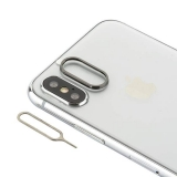 Защитное кольцо камеры Aluminium & игла для извлечения сим-держателя COTEetCI (GS8105-BK) для iPhone XS/ X Черный