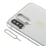 Защитное кольцо камеры Aluminium & игла для извлечения сим-держателя COTEetCI (GS8105-TS) для iPhone XS/ X Серебристый