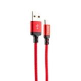USB дата-кабель Hoco X14 Times speed MicroUSB (1.0 м) Красный