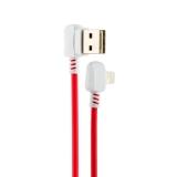 USB дата-кабель Hoco X19 Enjoy Lightning (1.0 м) Red&White