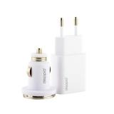 Набор Deppa Ultra MFI D-11150: АЗУ+СЗУ 1А, дата-кабель 8-pin Lightning для Apple 1.2 м, Белый