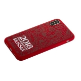 Чехол-накладка TPU Deppa D-103952 ЧМ по футболу FIFA™ Official Logotype для iPhone XS (5.8) Красный